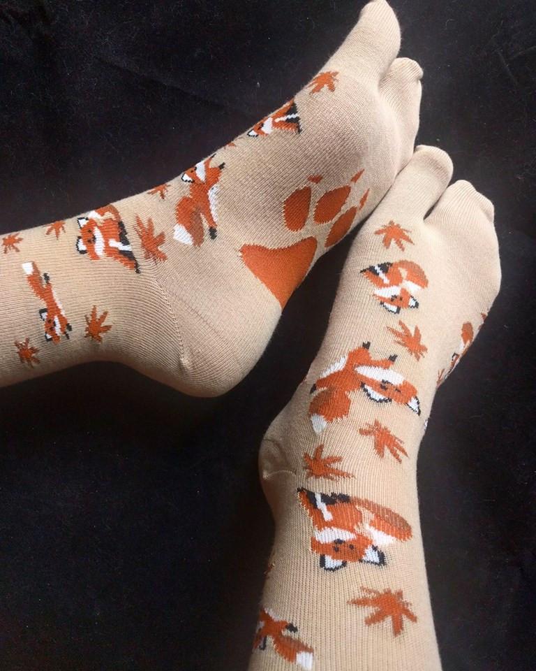 Fox Tabi Toe Japanese Socks By Ohio Kimono