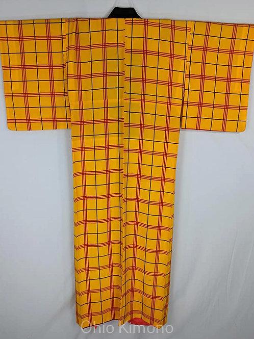 Yellow & Red Japanese Kimono