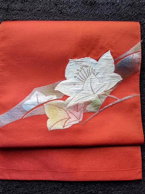 orange nagoya obi for kimono