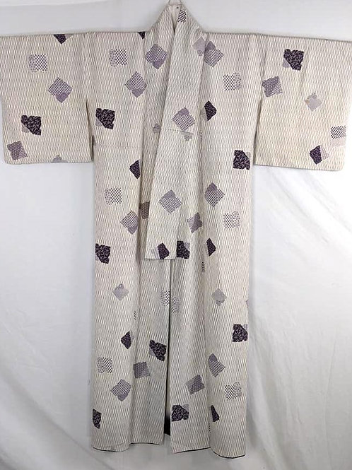 white and purple kimono for women from japan