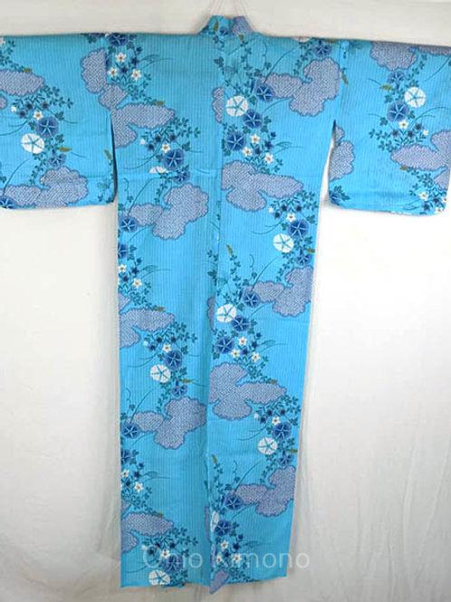yukata blue flowers