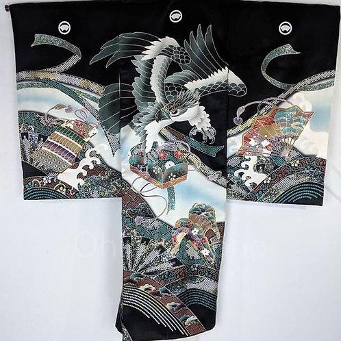 falcon black kimono