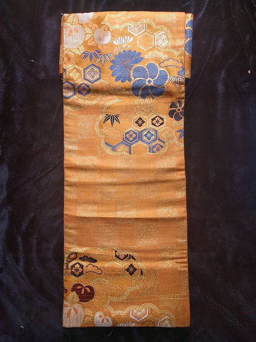 Orange Nagoya Obi For Women's Kimono