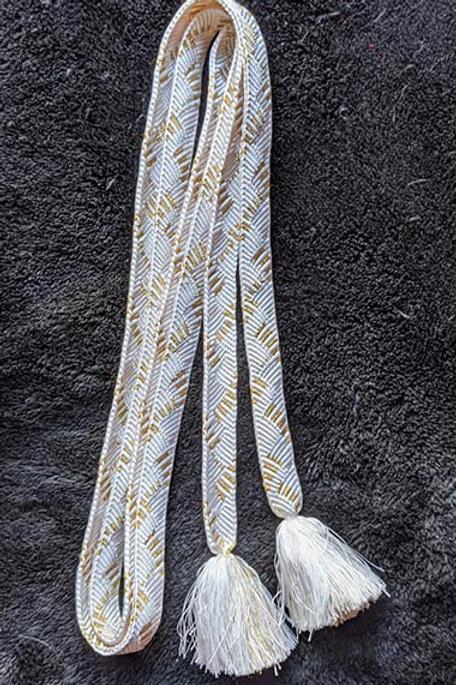 white formal flatbraid obijime