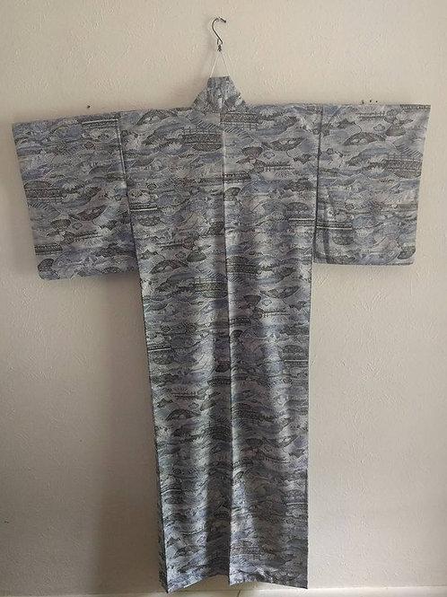 Blue & Gray Kimono