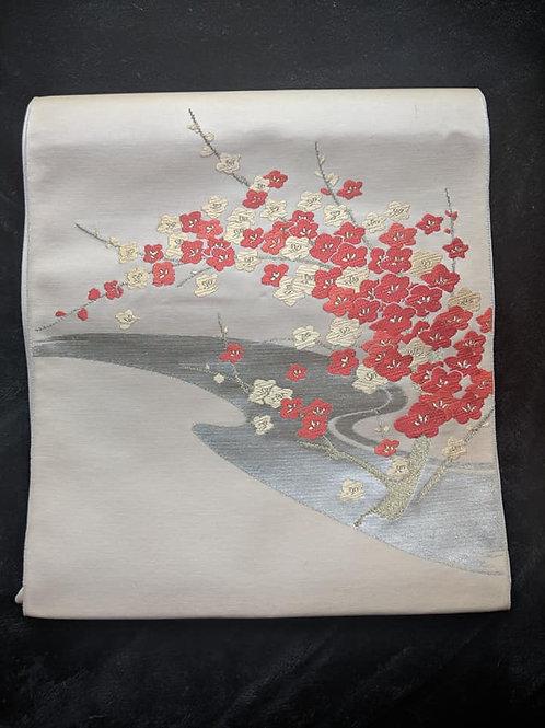 Oyster & Red Nagoya Obi