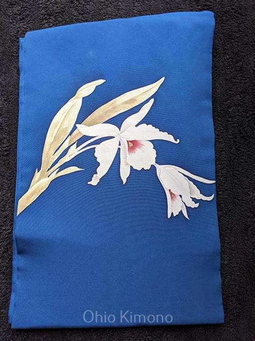 Royal Blue & White Nagoya Obi