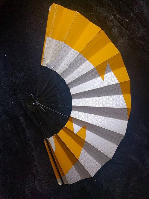 Silver and Yellow Sensu Fan