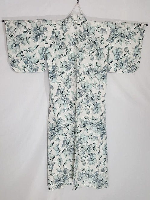 grey and teal yukata