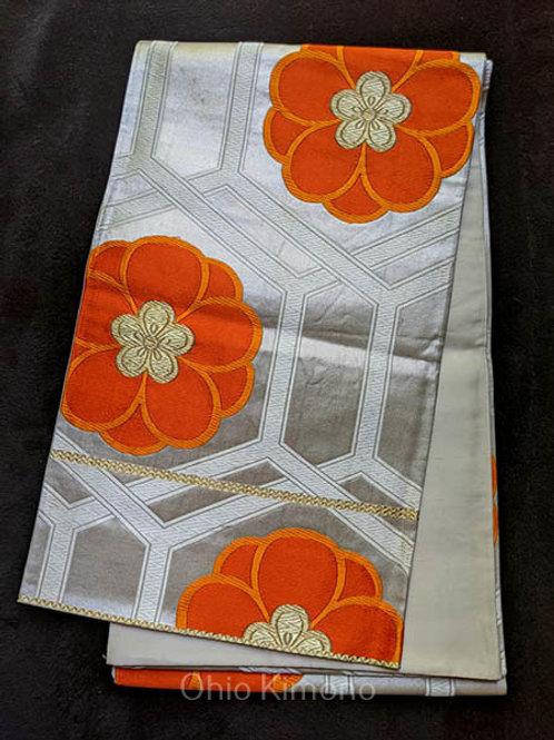 Silver & Orange Fukruo Obi