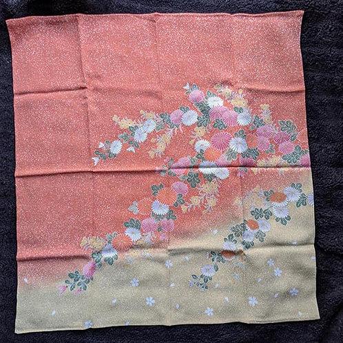 peach japanese gift wrap cloth
