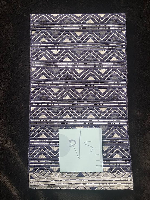 Dark Blue & White Hanhaba Obi