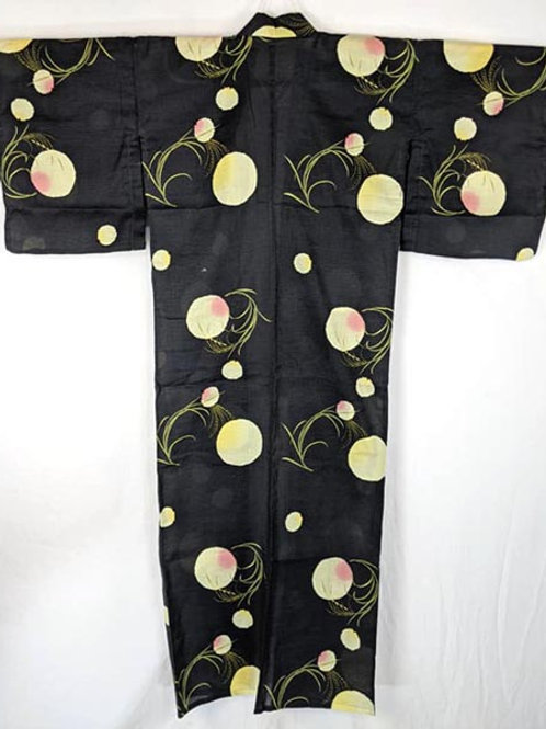 black and yellow yukata