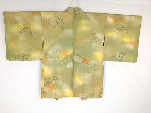 green silk haori