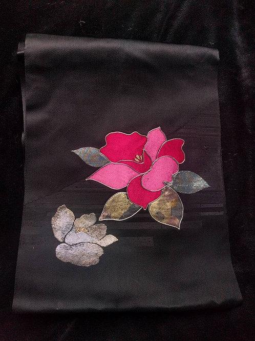 Black Rose Japanese Nagoya Obi