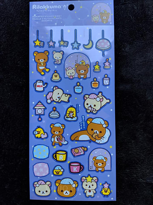 rilakkuma stickers stay up late