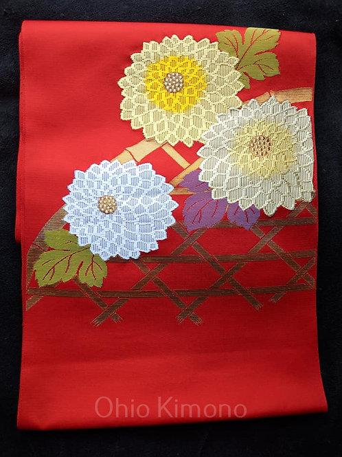 Red & Yellow Nagoya Obi