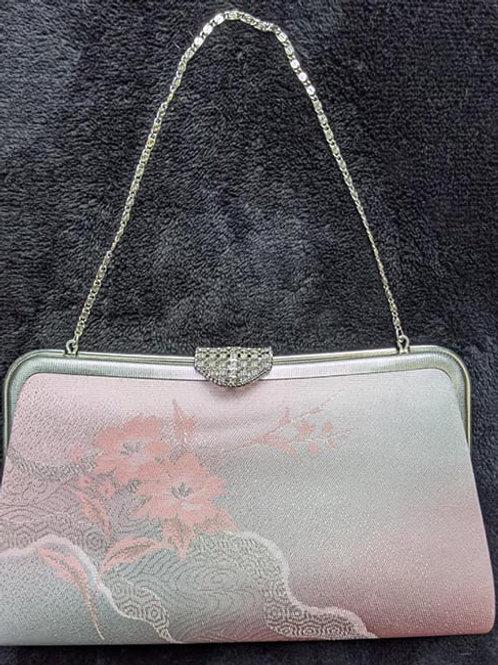 Soft Pink & Silver Kimono Purse