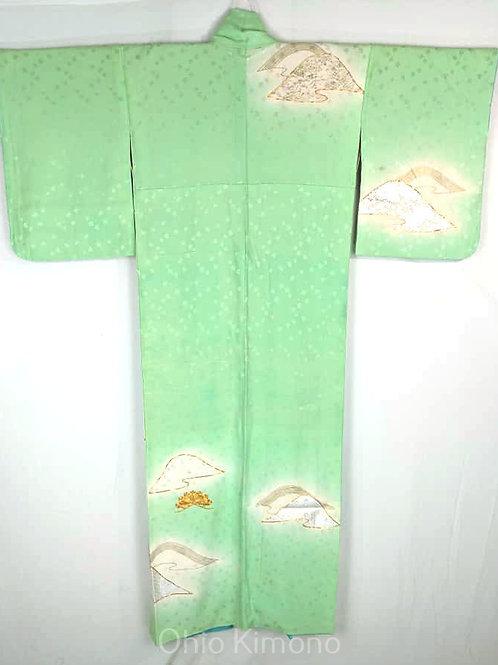 silk tsukesage kimono from japan