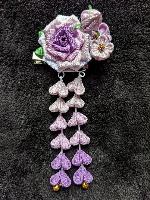 rose kanzashi