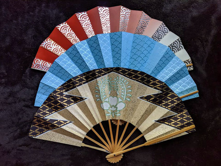 NEW: Vintage Japanese Folding Fans