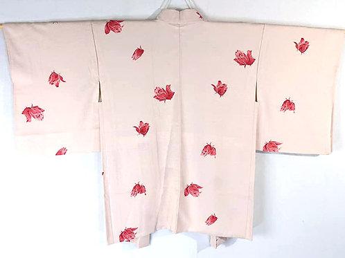 japanese haori pink roses
