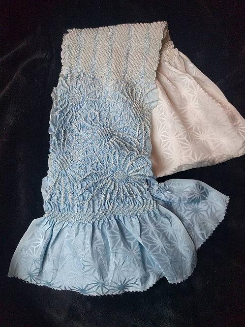 Blue Obiage For Kimono Obi
