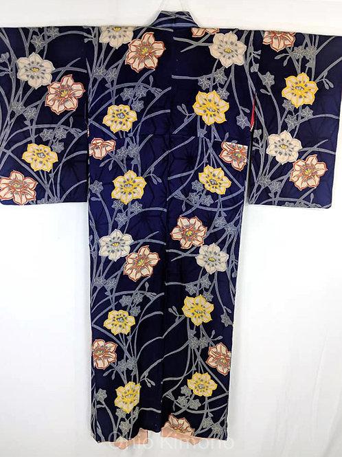 taisho japanese kimono silk