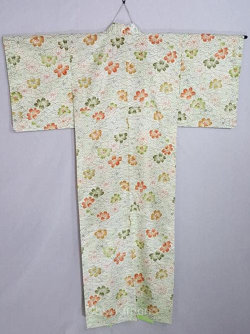 green vintage kimono