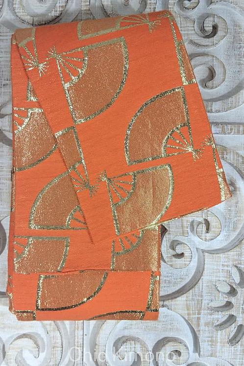 orange fan obi