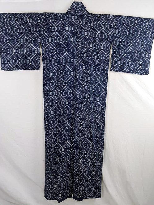 vintage blue kimono from japan