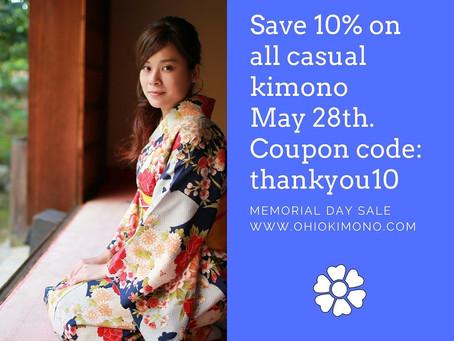 10% Off Casual Kimono Sale