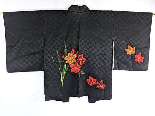 black haori for kimono women