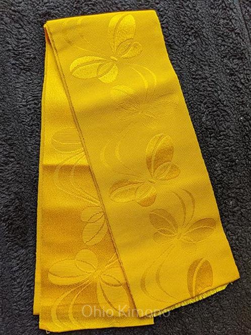yellow hanhaba obi for yukata
