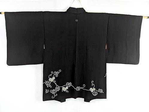 black haori silk womens