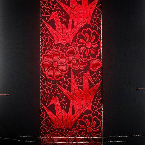Red Origami Obi