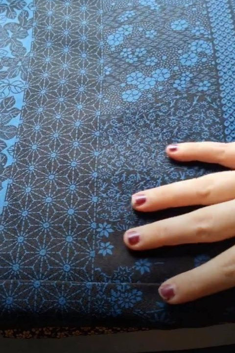 Blue & Black Japanese Kimono