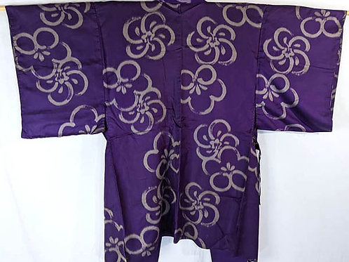 silk japanese haori purple
