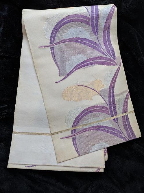 White & Purple Fukuro Obi