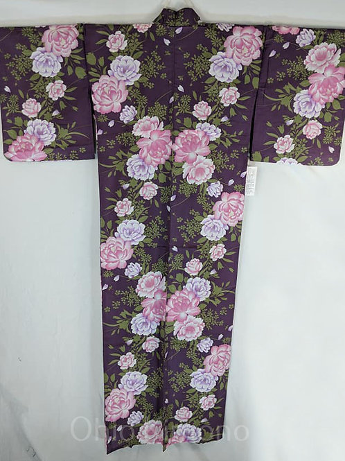 purple rose yukata