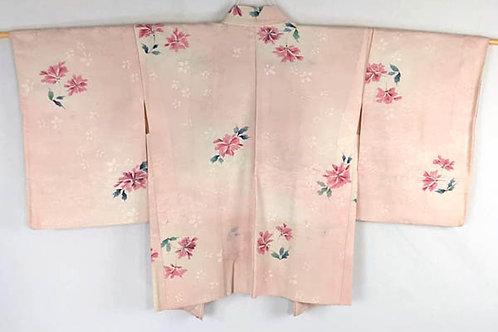 vintage pink haori from japan