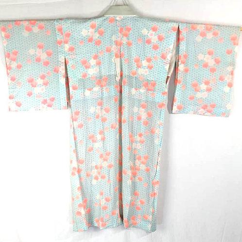 blue and white cotton juban for kimono