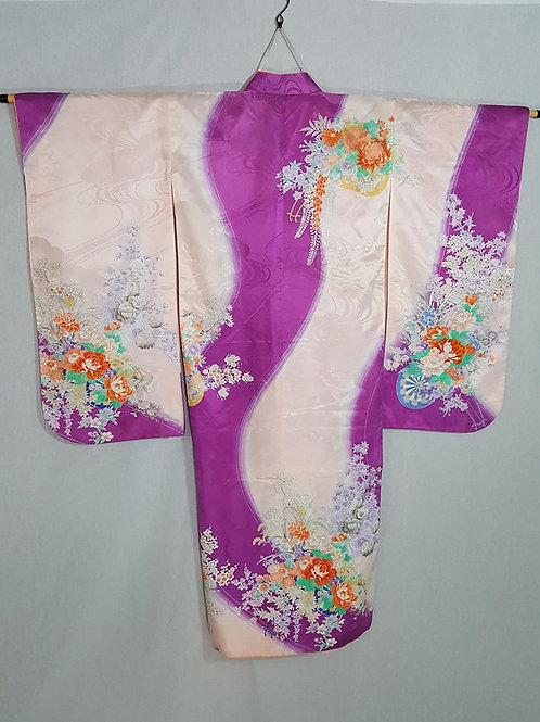 Purple & White Furisode