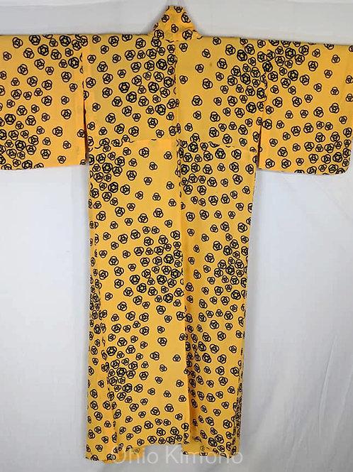 Sunshine Yellow & Dark Blue Kimono