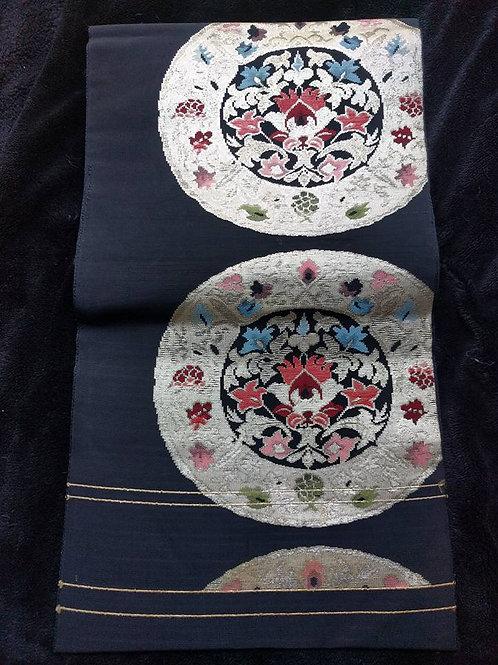 Black Nagoya Obi For Kimono