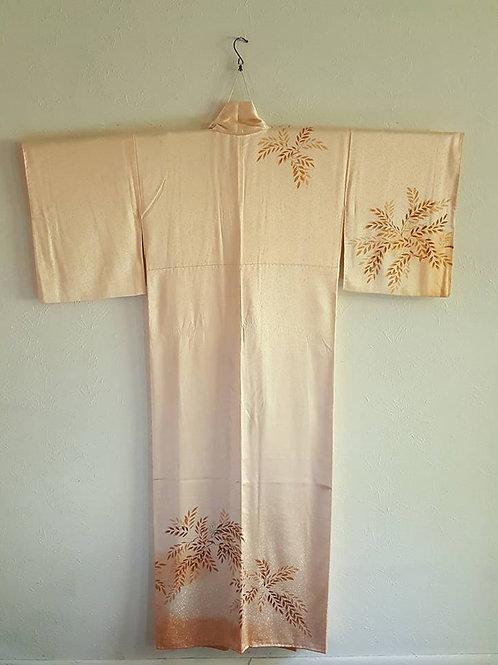 Peach Silk Japanese Kimono