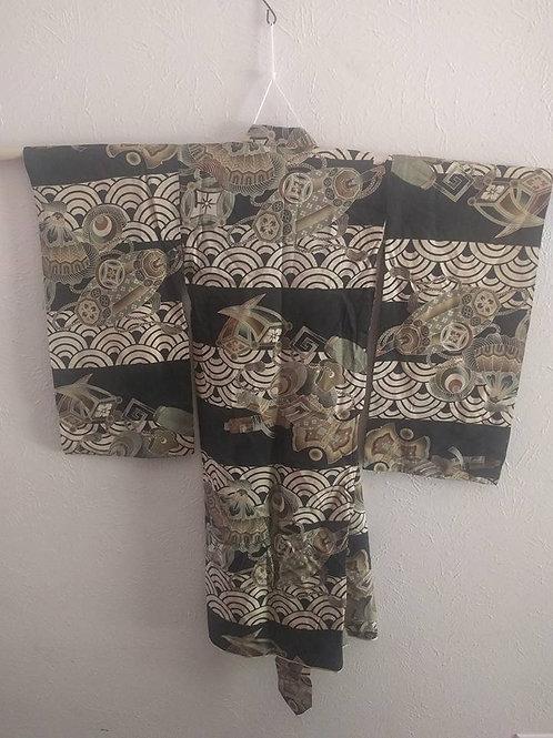Antique Silk Boys  Kimono