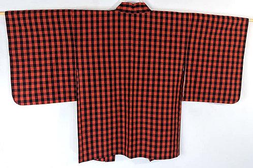 japanese haori red and black
