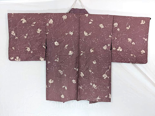 Plum Purple & White Haori