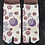 flip flop socks - tabi socks purple